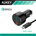 AUKEY 3 Ports USB Car Charger For Qualcomm Quick Charger 3.0 Mini USB Car Charger QC2.0 Compatible for iPhone 7 & Smart Phones