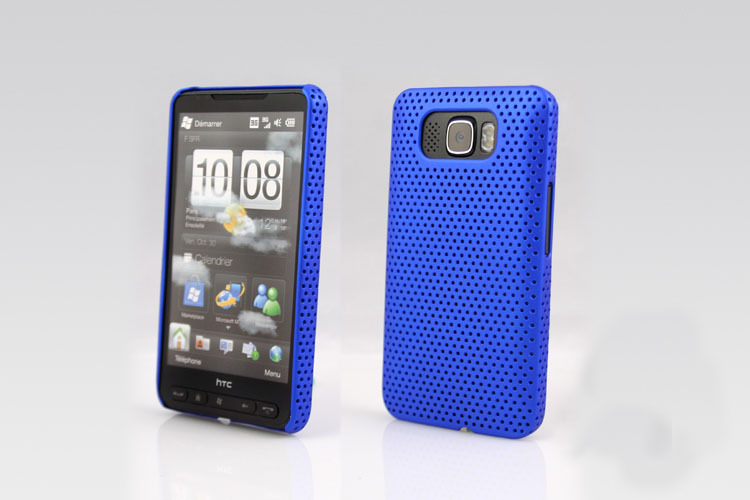 Promotion  Back Hard Case For HTC HD2 T8585 Cell Phone Blue Hole Cover Candy Color Free Shipping