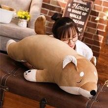 Brinquedos de pelúcia de pelúcia dos desenhos animados cão grande shiba inu cão boneca adorável animal crianças presente aniversário corgi pelúcia travesseiro