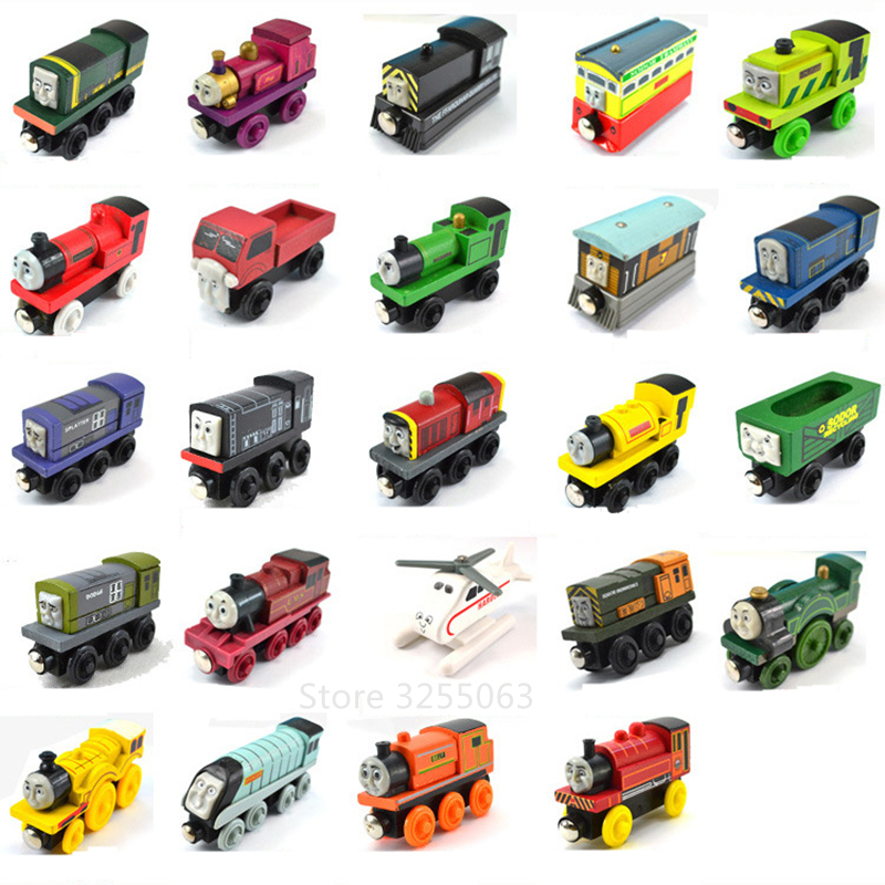Thomas And His Friends Wooden Model Train Wooden Railway Toys Magnetic Thomas Train For Baby Children Kids
