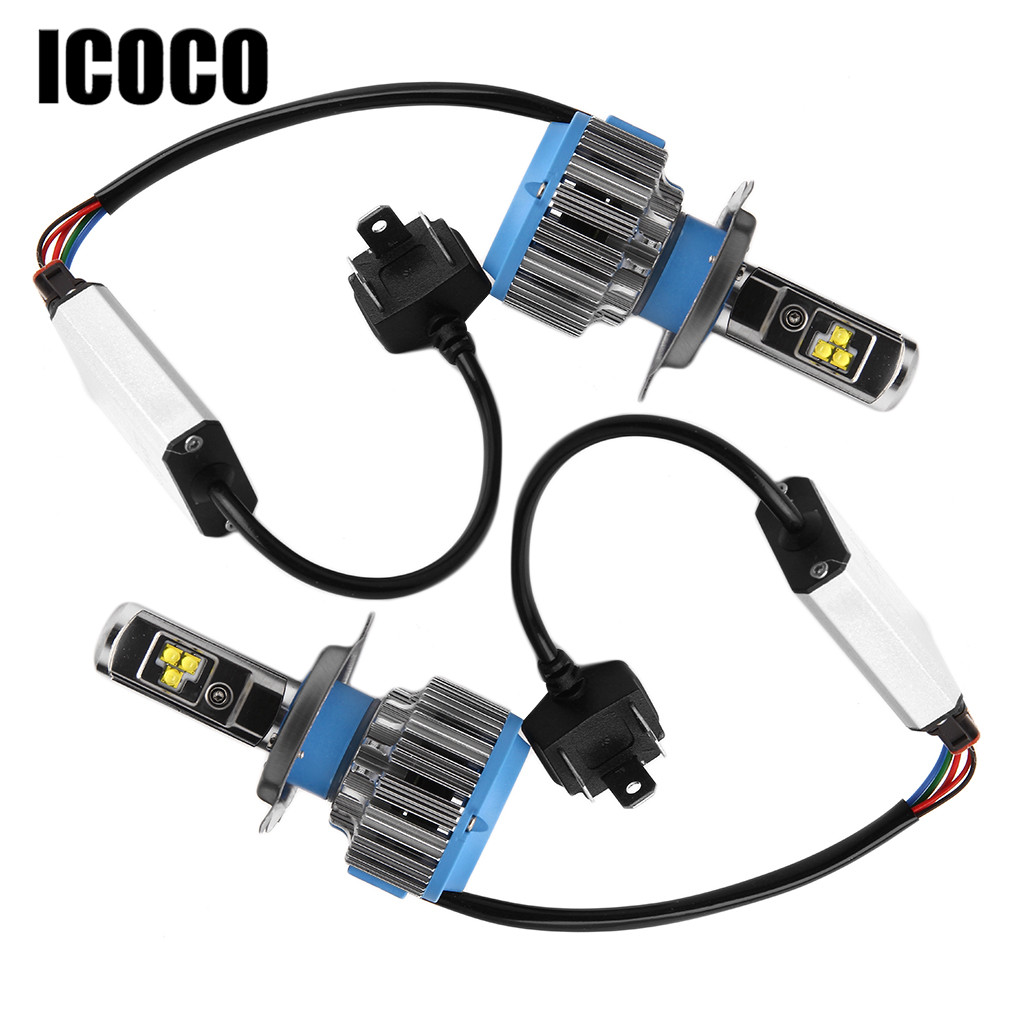 ICOCO H4 H7 H11 LED 12V Car Headlight 70W 7000lm 6000K LED Car Light Auto Front