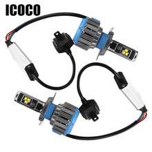 ICOCO H4 H7 H11 LED 12 V Auto Scheinwerfer 70 Watt 7000lm 6000 Karat LED Auto licht Auto Vorderen Lampe H1 H8 H9 H11 H27 880 Led-lampe Auto-styling