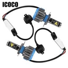 ICOCO H4 H7 H11 LEVOU 12 V Farol Do Carro 70 W 7000lm 6000 K LED Car luzes Auto Lâmpada Frontal H1 H8 H9 H11 H27 880 LEVOU Lâmpada-Car styling