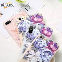 Soft TPU Silicone Case For iPhone 6 6s 7 XS Max Girly 3D Floral Relief Silicon Cover 8 Plus XR Fundas