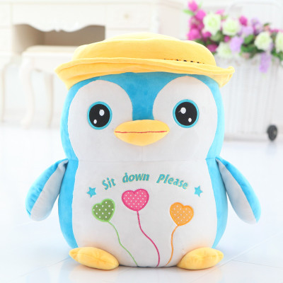 creative toy lovely cartoon penguin plush seat 50x35cm plush toy penguin doll ,suit for children and adult , Christmas gift x051 new arrived abs three corner children toy edc hand spinner for autism and adhd anxiety stress relief child adult gift