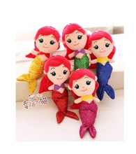 5 pieces a lot new creative little mermaid cartoon toys plush mermaid dolls gift about 30cm