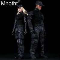 1:6 Scale Female/Male Clothe Black Python Camouflage Combat Uniforms Clothing Suits for 12 inches Action Figure Accessory m3n