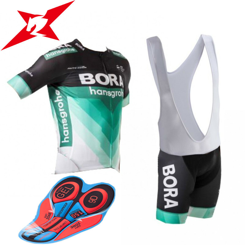 2018 New Cycling Jersey Pro Team 9D GEL Pad Maillot Bora Good Quality Cycling Set Men Quick Dry Pro Cycling Jersey #a001