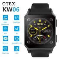 Kw06 android relógio inteligente ip68 impermeável pluggable ims cartão gps esportes bluetooth quad core 1.3 ghz android5.1 3g pulseira|Relógios inteligentes| |  -
