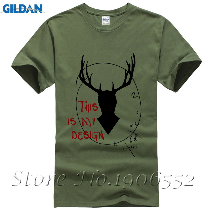 Latest Short Sleeve Cotton Hannibal - This is my des Casual T Shirt Men Large Size Vintage T Shirt O-Neck T-shirt Homme