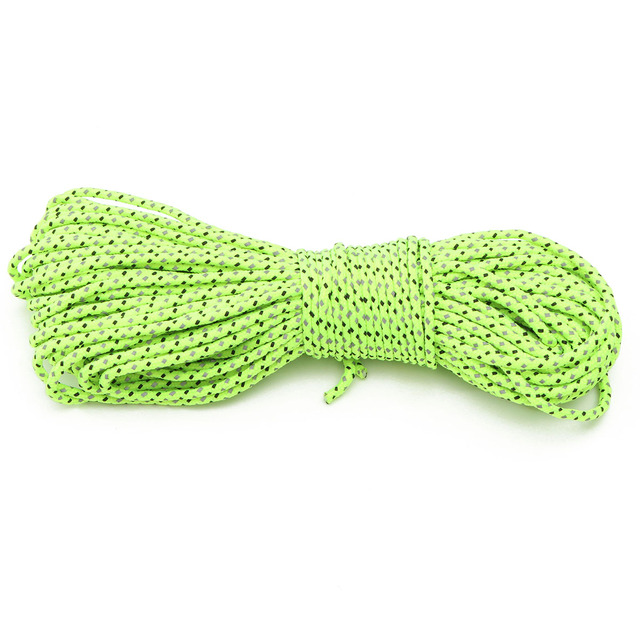 20M Green Reflective Guyline Canopy Tent Rope Guy Line Camp Cord Fluorescent Line For Camping Hiking tent accessories