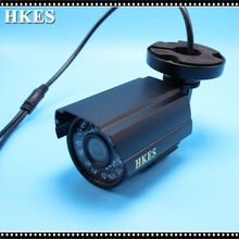 HKES Free Shipping Waterproof AHD 1080P Bullet Camera HD 2MP CCTV Outdoor Security 24 IR Night Vision BNC Cable