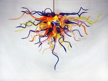 Colorful Glass LED Crystal Chandelier Modern Lamp Art Decorative Light New Designed Energy Saving