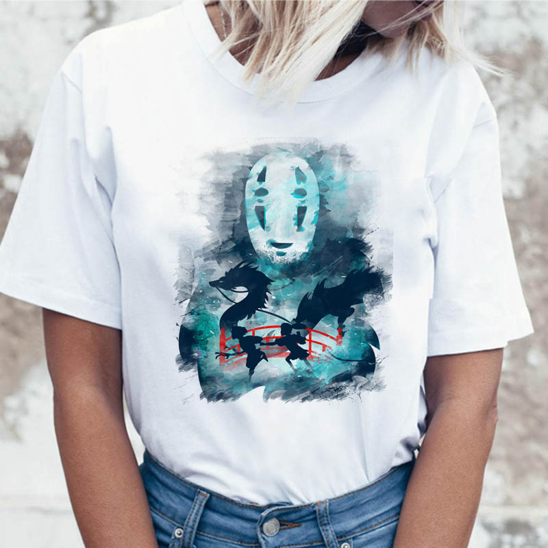 <font><b>Spirited</b></font> <font><b>Away</b></font> t shirt tees ulzzang female korean women funny <font><b>tshirt</b></font> for graphic top t-shirt clothing harajuku image