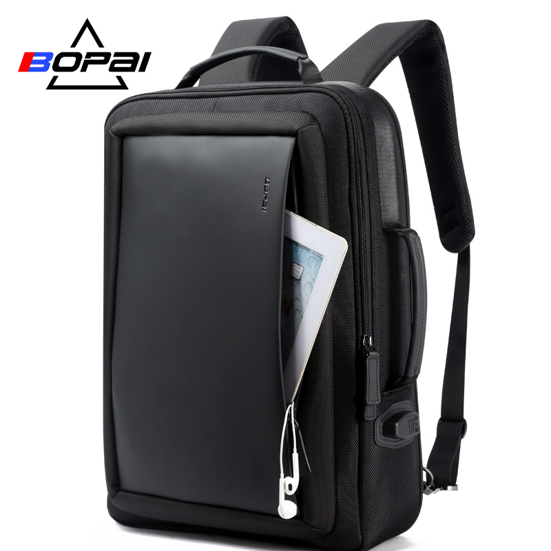 BOPAI увеличить Anti theft ноутбук рюкзак USB внешний заряд 16 дюймов Универсальный Рюкзак Сумка дорожная для мужчин школы подростков
