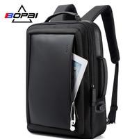 BOPAI Enlarge Anti theft Laptop Backpack USB External Charge 16 Inch Multifunction Backpack Bag Travel Bag Men School Teenagers