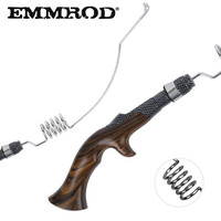 EMMROD Stainless Steel Bait Casting Fishing Rod Ebony handle Portable Boat/Raft Rod Lure Personality Telescopic Fishing Rods FQ