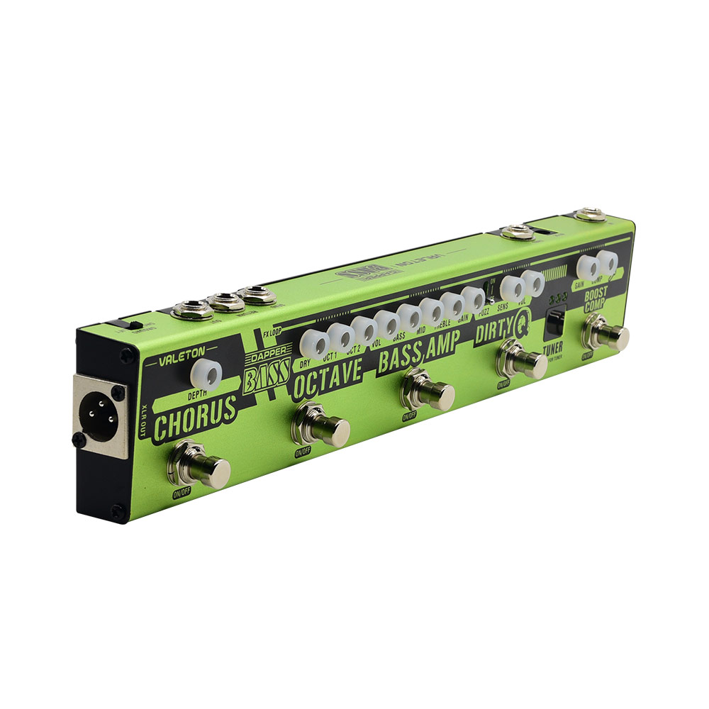 Valeton Dapper BASS Multi Effects полоски на педали 6 в 1 Multi Effect Bass Tuner, Chorus, Octaver, Dirty Q & Boost Comp, тюнер-тюнер VES-2