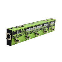 Valeton Dapper BASS Multi Effects Pedal Strip 6 in 1 Multi Effect Bass Tuner,Chorus,Octaver,Dirty Q & Boost Comp,Tuner VES 2