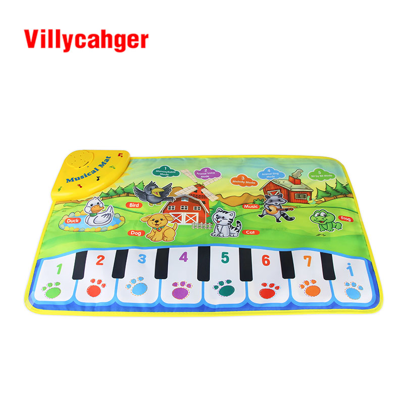Villycahger carpet Children Play Mat Music baby toys