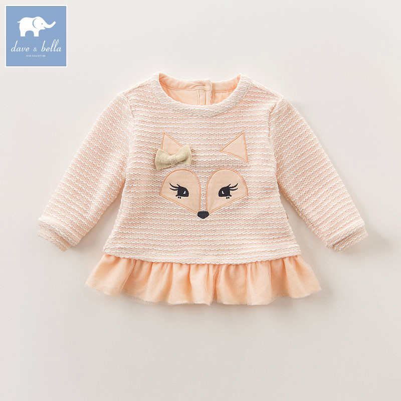 DB6200 dave bella autumn infant baby girls fashion print tee kids cotton lovely tops children toddler high quality clothes db2588 dave bella autumn unisex infant baby girls boys fashion t shirt kids cotton lovely tops children high quality tee
