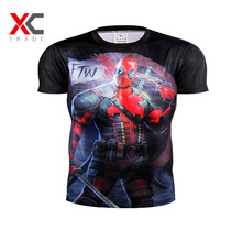 NO.12New Arrive American Comic Badass Deadpool T-Shirt Tees Men Women Cartoon Characters 3d t shirt Funny Casual tee shirts tops