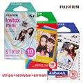 Genuino fujifilm fuji instax mini 8 película 30 unids papel fotográfico para 8 50 s 7 s 90 25 sp-1 cámaras instantáneas (raya Del Arco Iris + + Correo Aéreo)