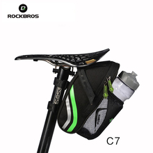 ROCKBROS Bicycle Bike Rear Bag Rainproof Nylon Bike Saddle Bag Outdoor Cycling Mountain Bike Back Seat Tail Pouch Package