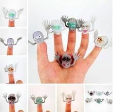 Marionnettes à doigts en plastique, 6 pièces/lot, nouveaux jouets amusants avec petit doigt Gashapon, histoire de fantôme de terreur d'halloween, GYH