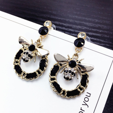 Bee Pearls Long Brand Designer Luxury Jewelry Pendientes Statement Earrings For Women Mujer Brincos