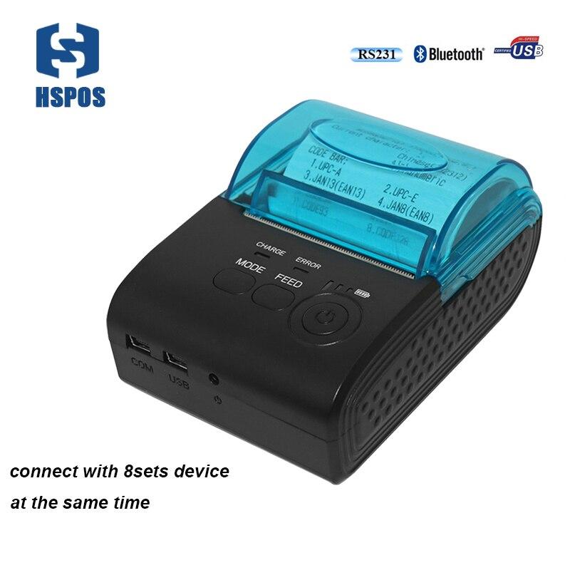 58 мм мобильный термопринтер blutooth интерфейс <font><b>impressora</b></font> Поддержка Android с IOS Connect 8 компл. устройства между тем печати