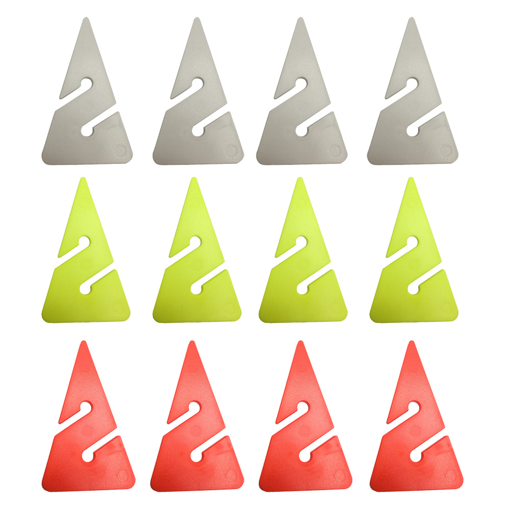 12/6PC Scuba Dive Cave Wreck Dive Line Arrow Markers ABS Triangle Shape Guide Rope Indicator For Techical Cave Diving Diver
