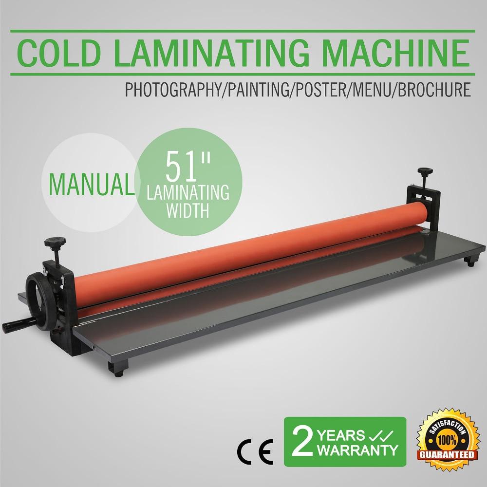 "51"" 1300mm manual cold roll laminator vinyl photo film mounting"