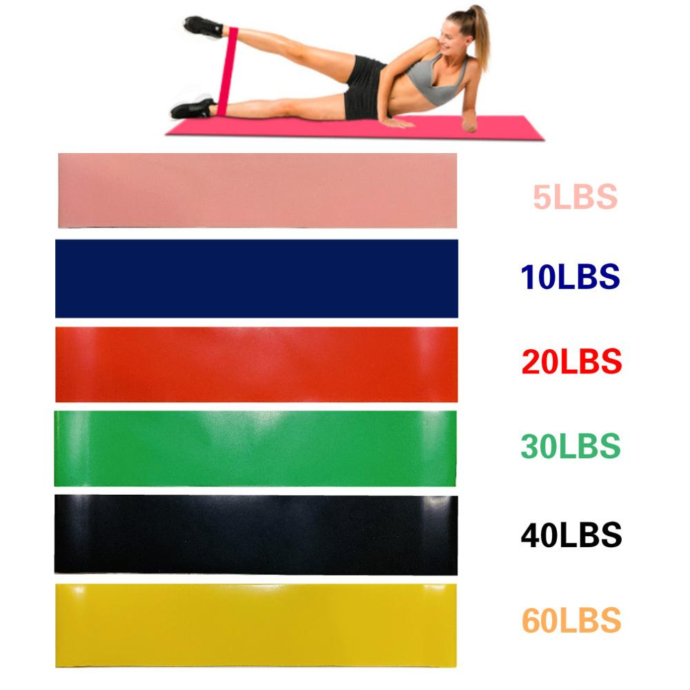 Yoga Resistance Bands Rubber Loops Fitness Gym Equipment Latex Rubber Band Workout Gym Strength Training Athletic Rubber Bands