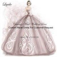 2018 Custom Made Ligação Vestido Para O Vestido de Casamento Da Noiva Vestido Taxa Ao Cliente Entre Em Contato Conosco Antes de Comprar