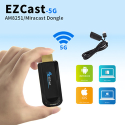 EZCast Dual Band 5GHz WiFi Miracast Smart TV DLNA HDMI Mirror2 TV Dongle TV Stick Airplay Media Player EZCast Download