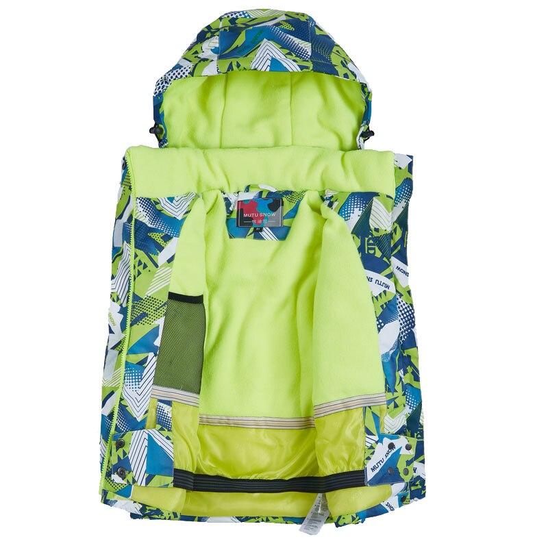 Combinaisons de Ski imperméables Super chaud 2019 hiver veste et pantalon enfants Ski et snowboard vêtements veste de neige pour les marques de garçons - 2