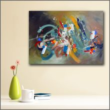 Printing Graffiti Infinite waves Abstract expression Wall Art Picture Home Decor Living Room Modern Canvas Print Paintings(China)