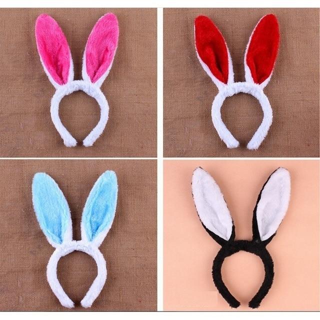 unids adultos nios accesorios para el cabello orejas de conejo bandas para la cabeza de