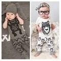 Preço inacreditável! Roupas de bebê Menino conjunto de roupas de Verão 2017 Nova moda bebê recém-nascido de Banda Desenhada menino Infantil roupas T01