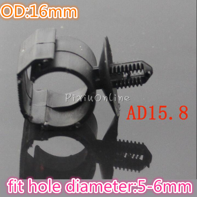 High Quality 2pcs YL757 OD 16mm Plastic Car Wire Cable Harness Clips