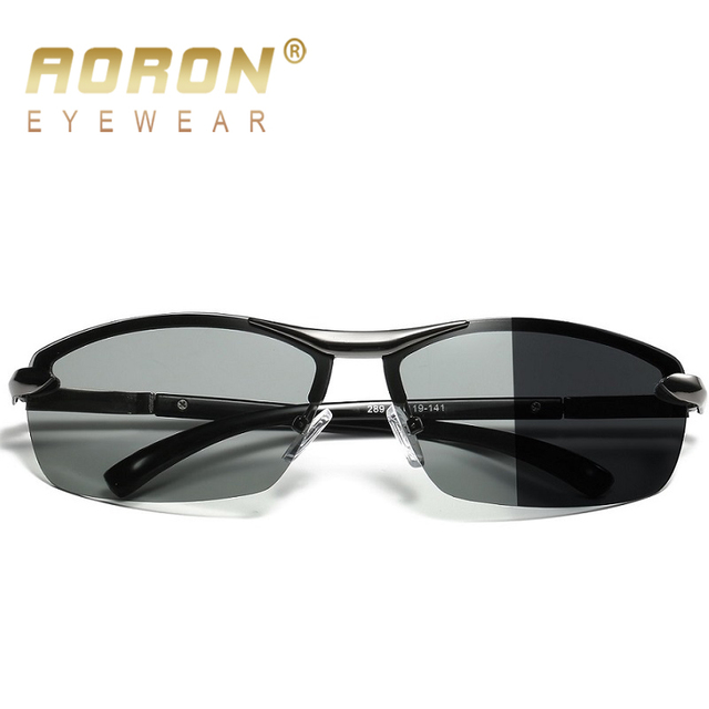 9cd07a539c AORON Photochromic Polarized Sunglasses Women Men Discoloration Eyewear  Anti Glare UV400 Glasses HD Driving Goggles Oculos