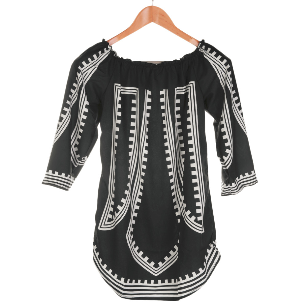 HW2016 NEW arrival 2016 Women Sexy Printed Dress Long Sleeve Spring/Summer Dress Loose