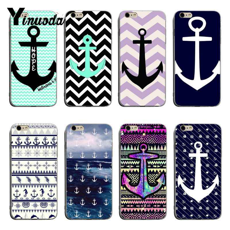 Yinuoda Awesome Stripe ANCHORS Pattern 2018 Colored Drawing soft tpu phone Case For iPhone X XS XR XsMax 8plus 6 6s 7 7plus