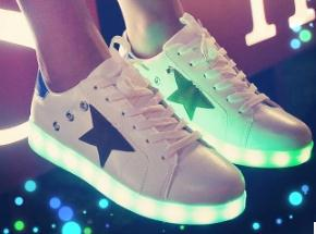 2015 LED luminous shoes lovers fashion men women light adults glowing 7 colors - Msbeauty store