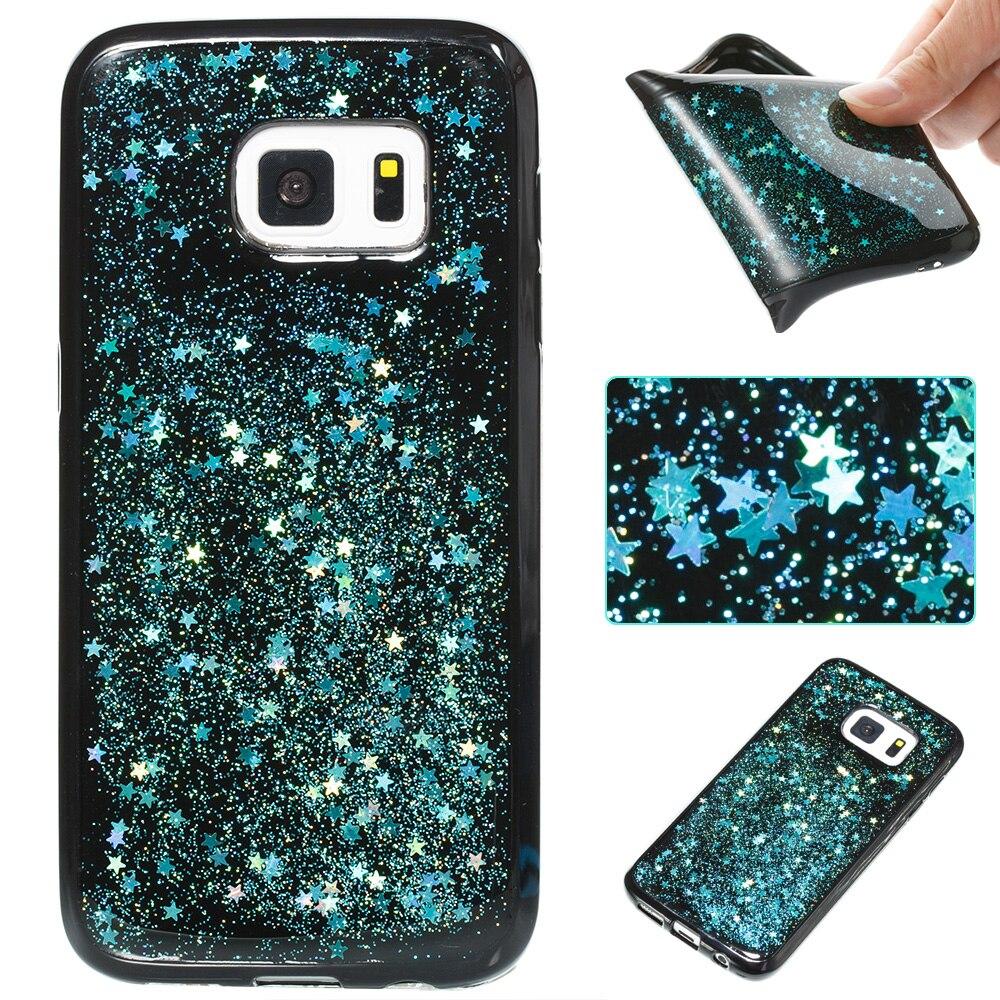 Валк Телефон чехол для Samsung <font><b>Galaxy</b></font> S8 плюс S7 края Примечание <font><b>8</b></font> J3 J5 J7 2016 Силикон Сияющий Dijiao крышка для Samsung A5 A3 2017