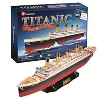 The New CubicFun 3D Jigsaw Puzzle Paper Model Titanic Deluxe Edition T4011 Sail Model Gifts Free