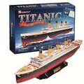 The new CubicFun 3D jigsaw puzzle paper model Titanic Deluxe Edition T4011 sail model gifts