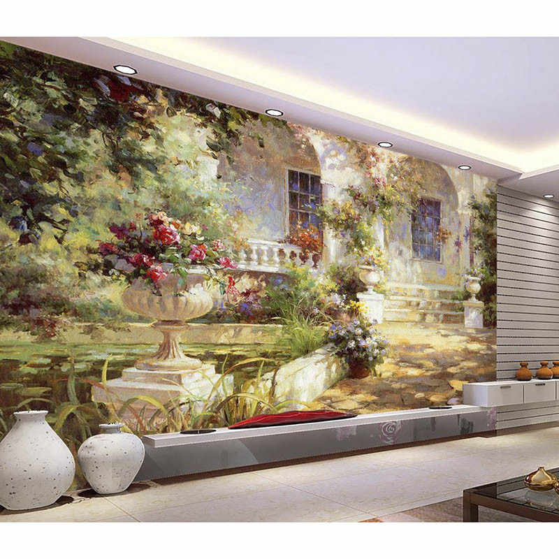 HD Mediterranean 3D Customized Photo Wallpaper Wall Mural Home Decor Landscape painting Wall paper For Living Bedding Room 387