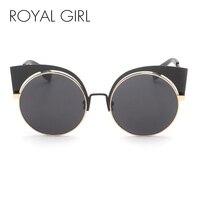 2016 Fashion New Cat Eye Sunglasses Women Elegant Style Cat Eye Sun Glasses Women Mirror Lens